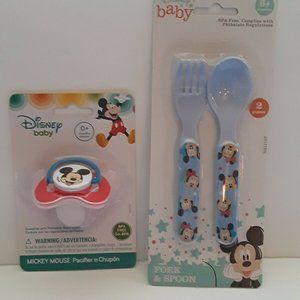 Disney Baby Mickey Mouse 2 Piece Bundle 1 Pacifier